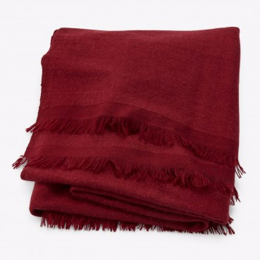 ABC From the Road Pana Throw (Maroon)  $1,599