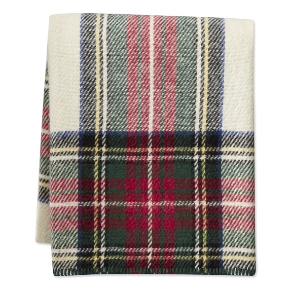 Williams Sonoma Italian Lambswool Throw, Stewart  $149