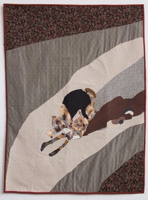 Ditch, fabric, adhesive, batting, thread