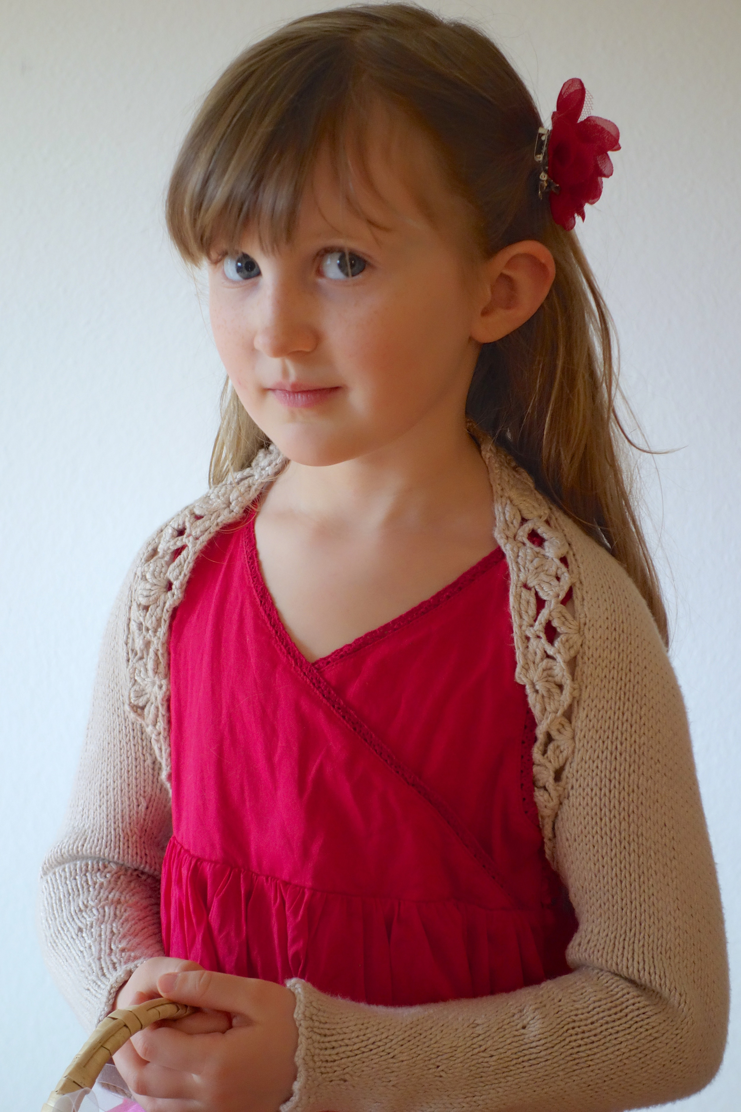 I really love combining crochet trim with a knitted body – best of both worlds!