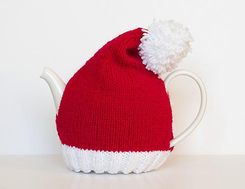 Santa Hat Tea Cosy by Sarah Cooke