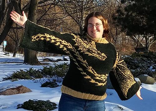 Drachen Jäger Kimono Sweater by Tania Richter