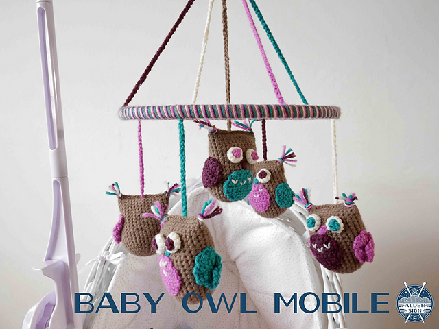 Baby Owl Mobile by Sarah Alderson