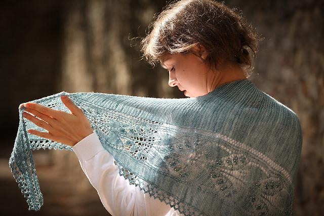 Aglow shawl