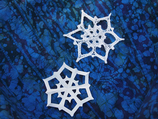 Everybody needs a paper snowflake or six for our winter decorations! Photo © Naomi Parkhurst