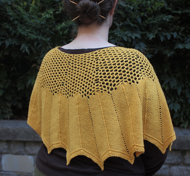 This beautiful sunflower shawl, named Suffrage, goes beyond words, with all profits donated to voting and civil rights organisations. Photo © Sarah Sipe