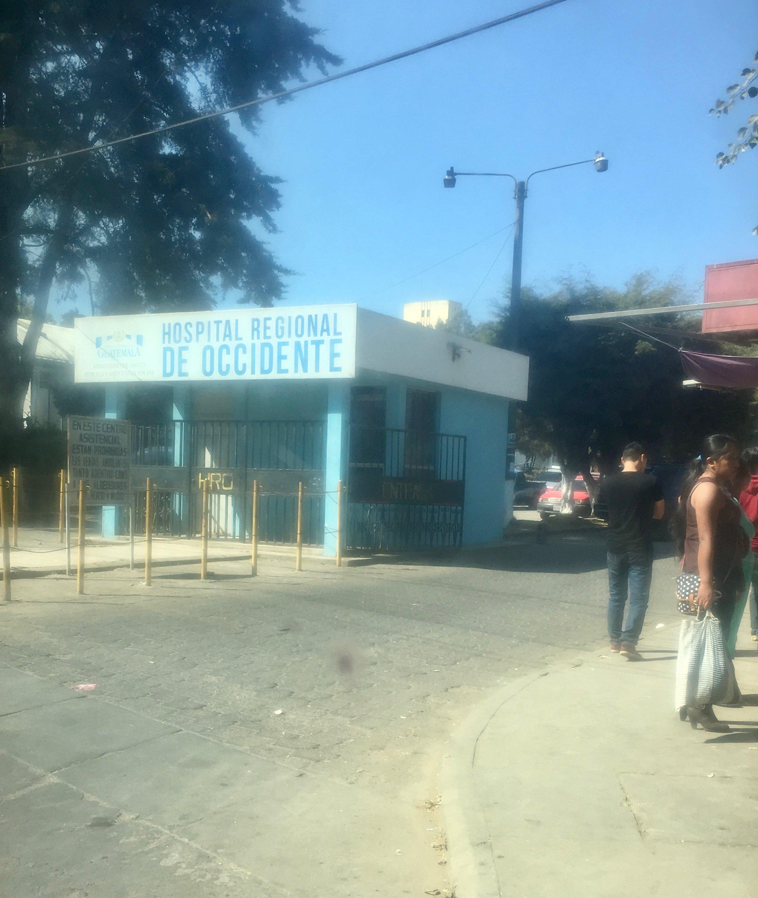 Entrance to Xela Public Hospital