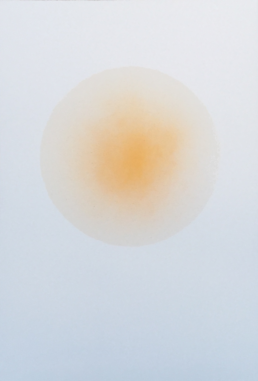 """Sun"" is piece is the only one of its kind as it is part of a series of variants . All variants are unique and varies a bit from the photo. . The measurements vary around 38 x 56 cm. as Anne Nowak gently tears her artworks out of large paper pieces."