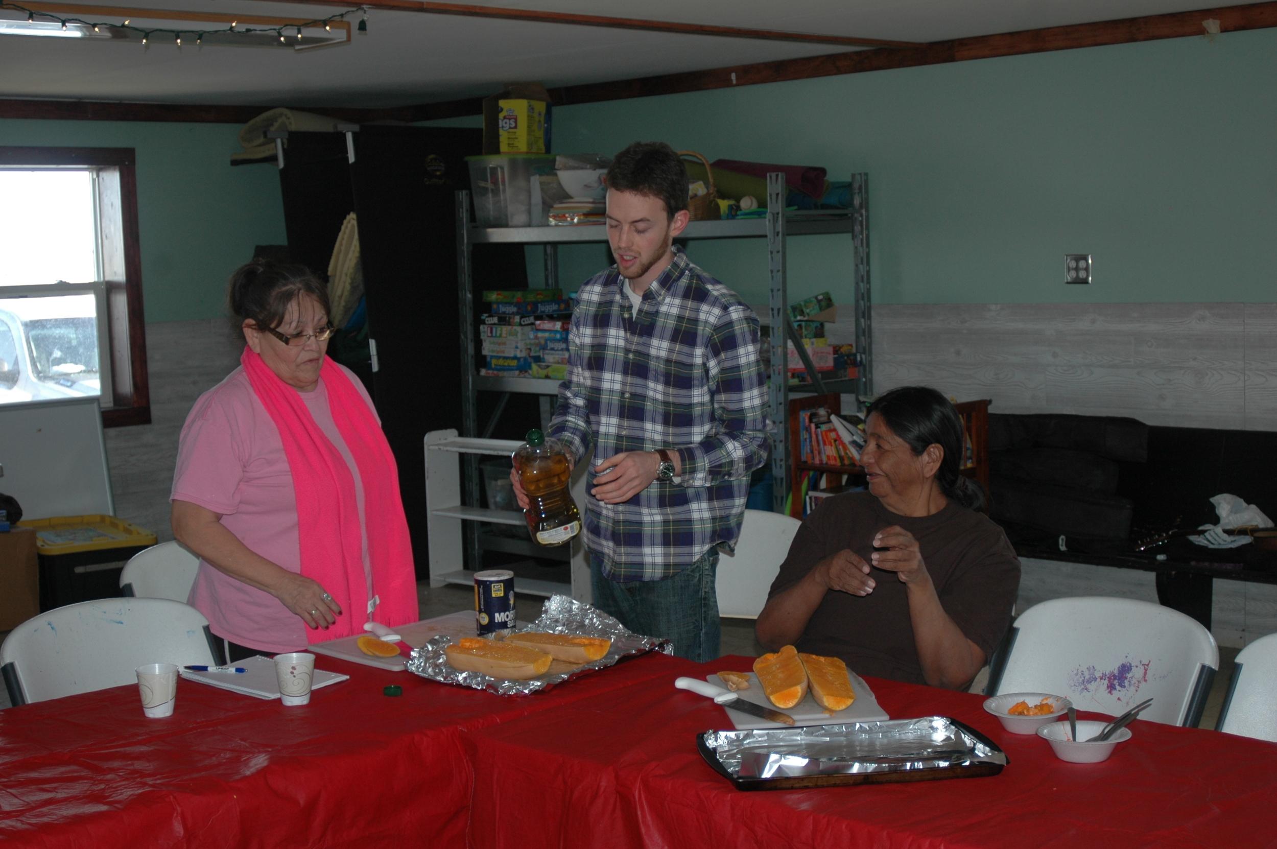 Weekly cooking classes using seasonal ingredients