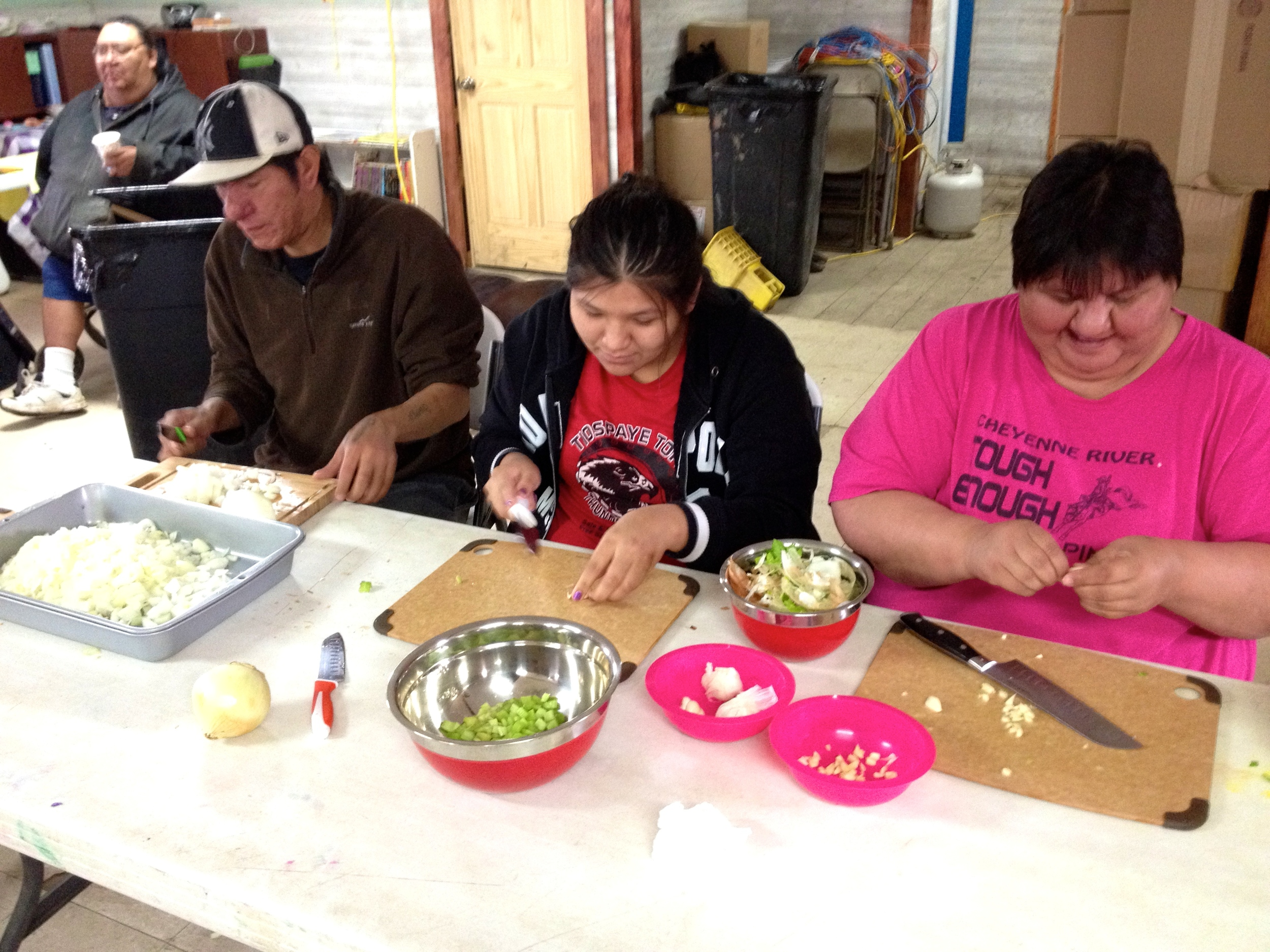 Learning new culinary skills and cooking simple, healthful meals