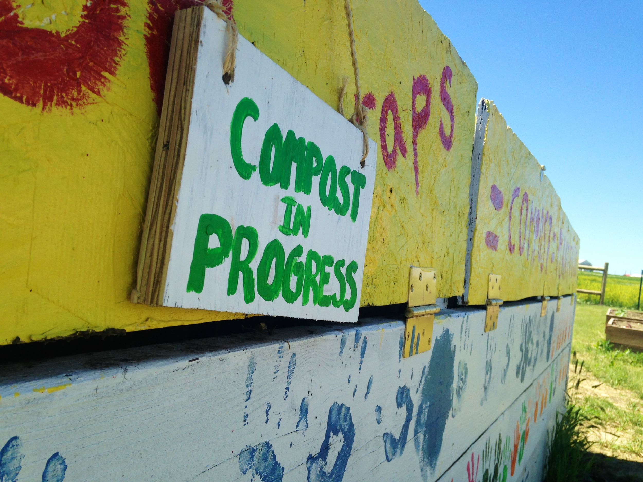 Compost creates plant food for the garden and a potential value-added product for the town