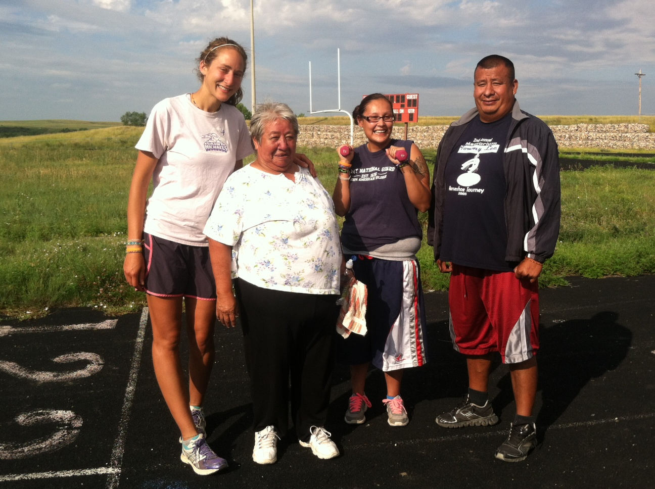 Walking a morning mile to create healthful practices