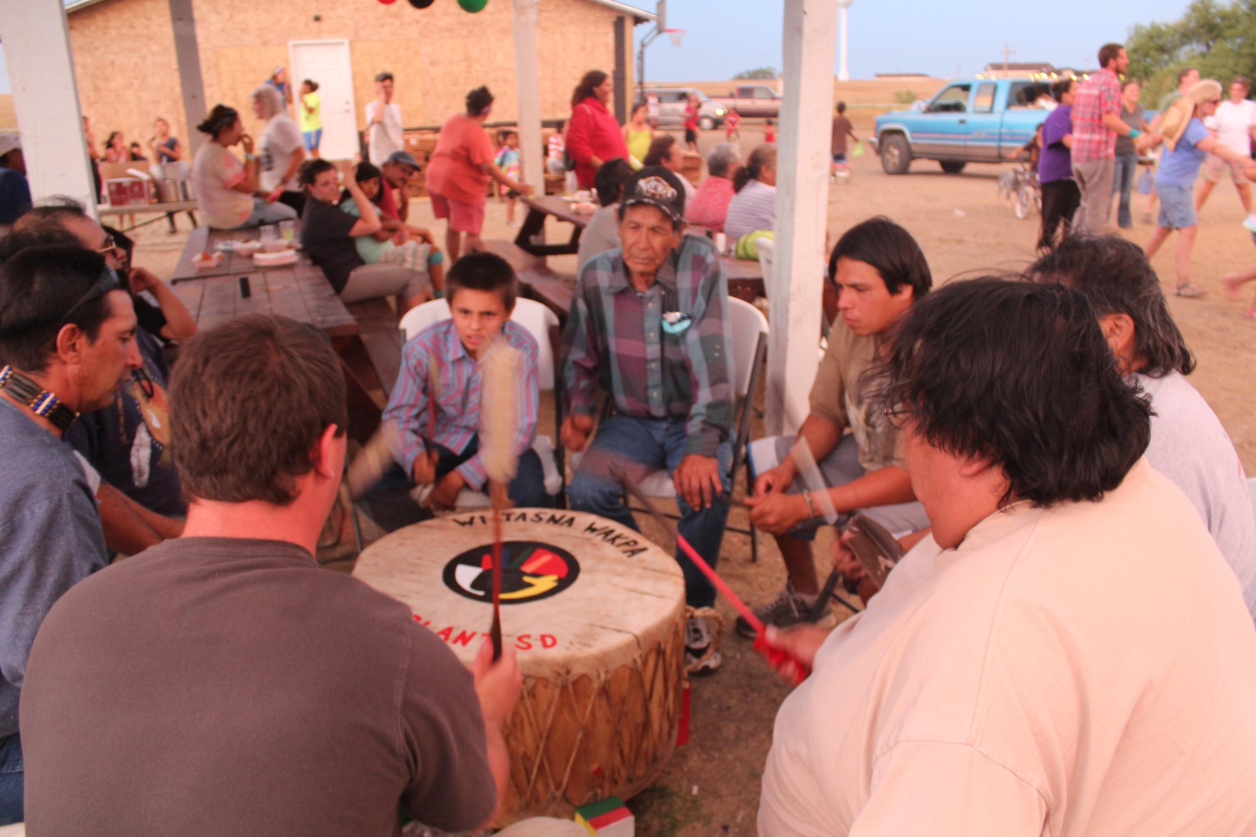 Weekly drum circles preserve oral history through music