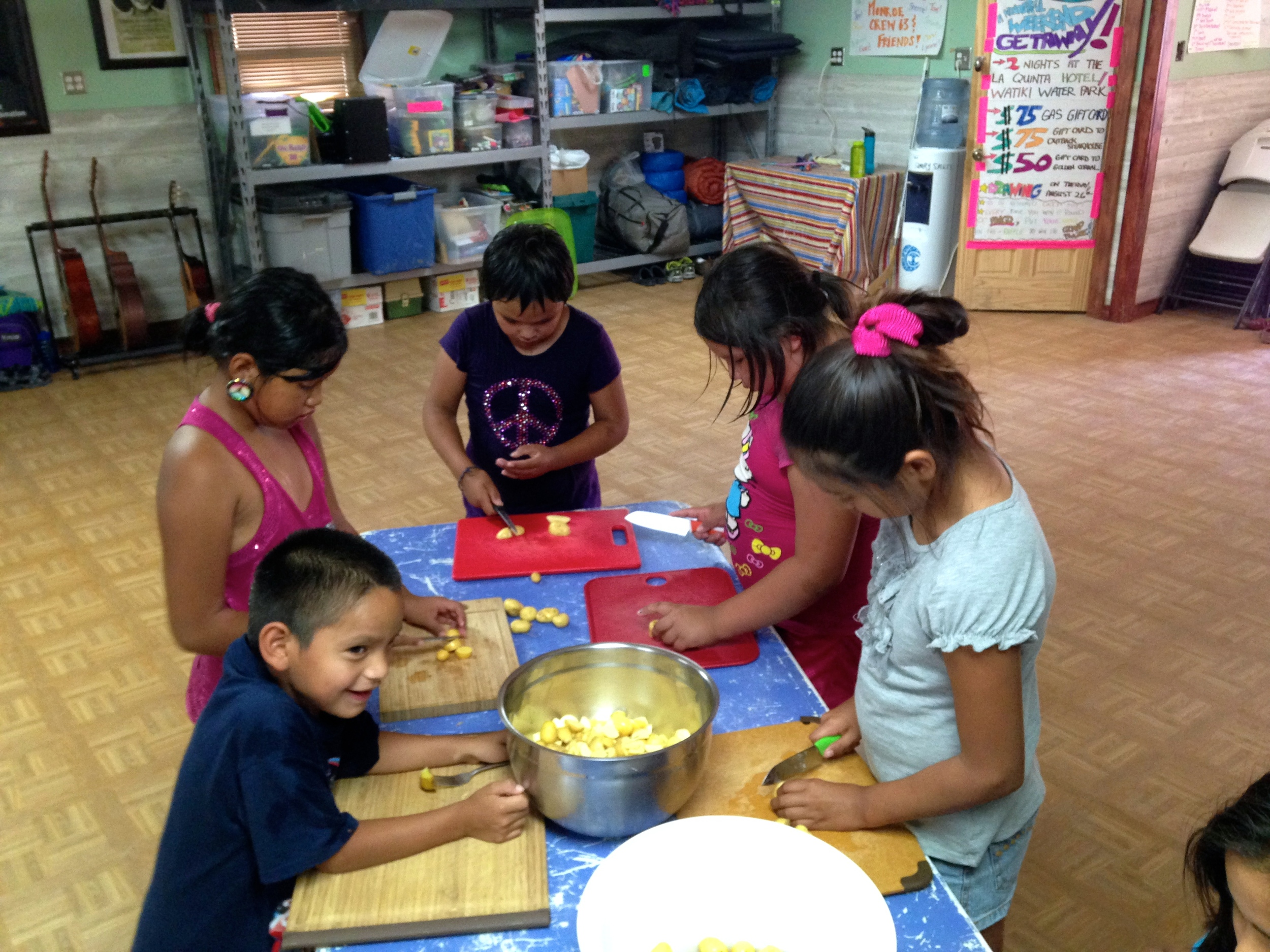 Using ingredients from the garden to create healthful snacks