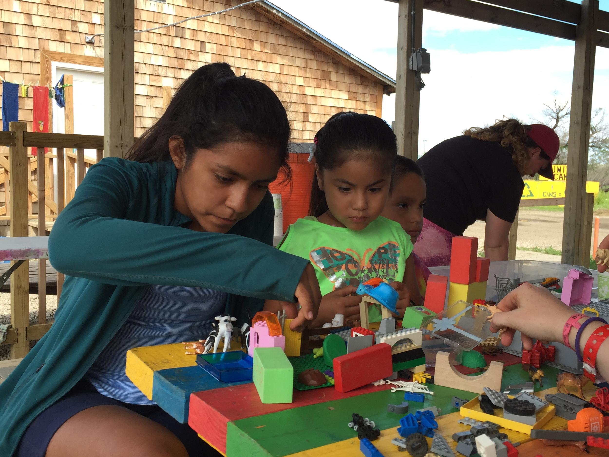 Fun building at camp!  (Z.Gross, June 2015, La Plant, S.D.)