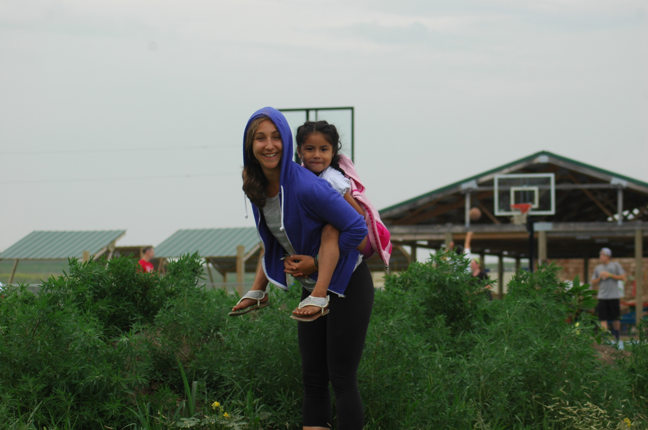 Piggyback rides are always a hit with the kids! (A.Gross, La Plant, July 2015)