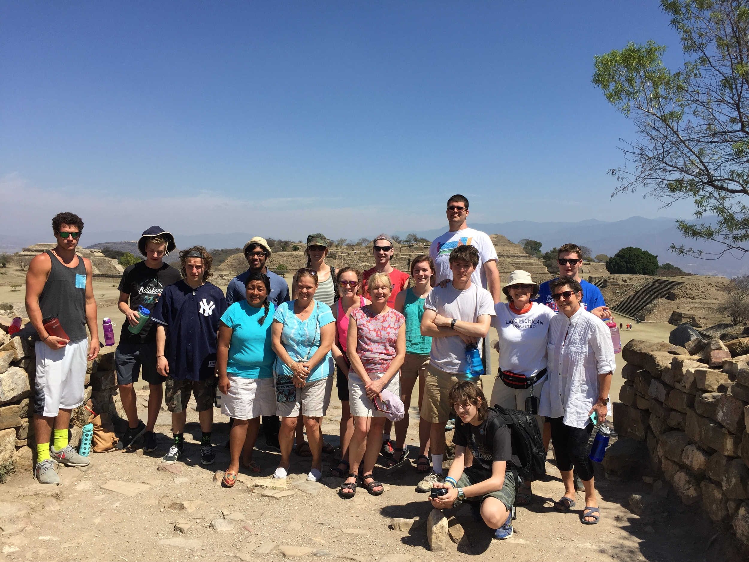 The group during a trip to Monte Alban.