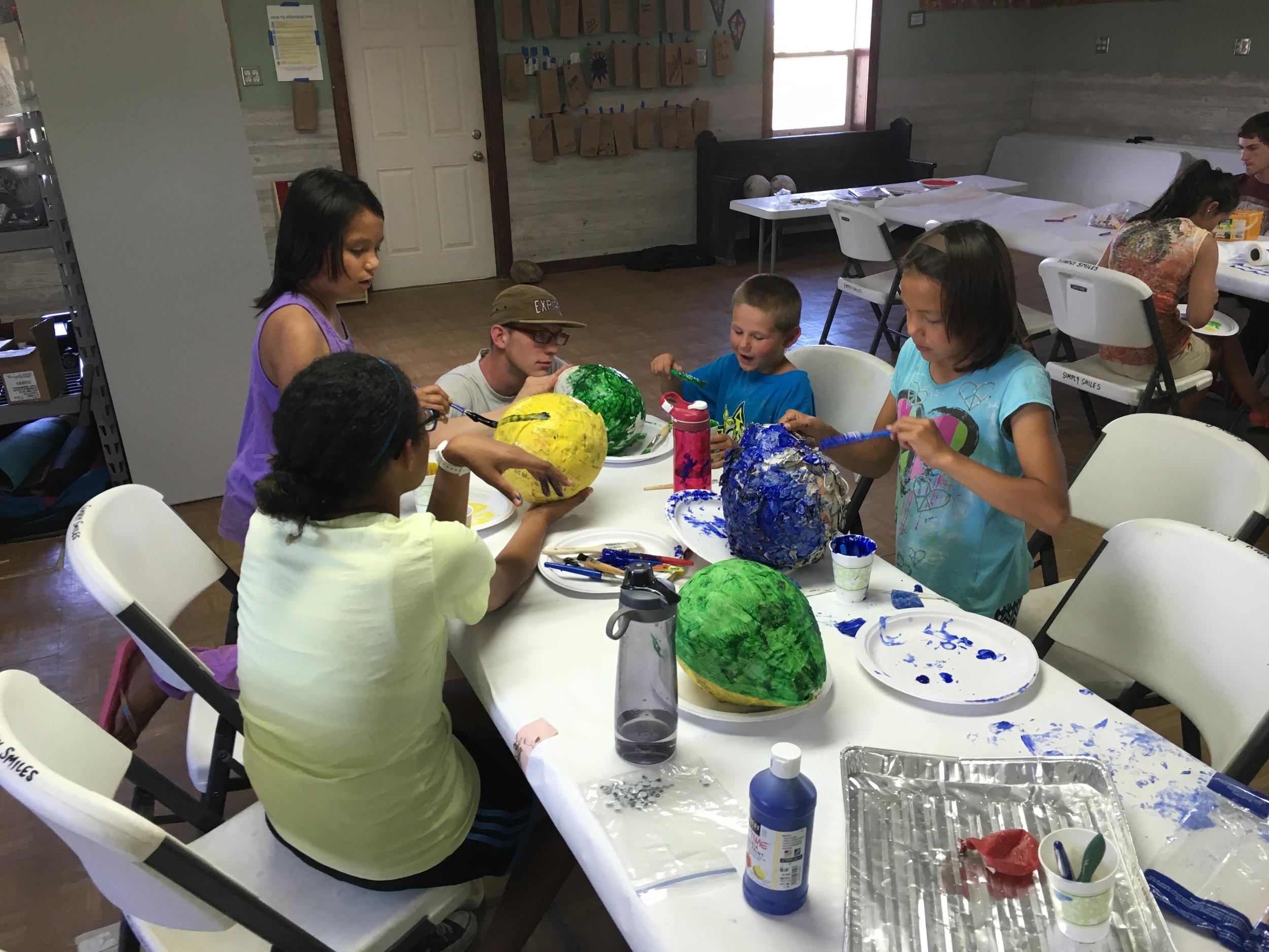 Personal piñata making at camp!