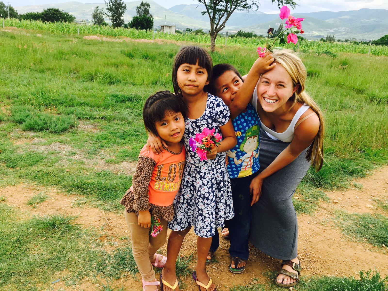 Emma and some of the first residents of our children's home, Casa Hogar Simply Smiles! (July 2016)