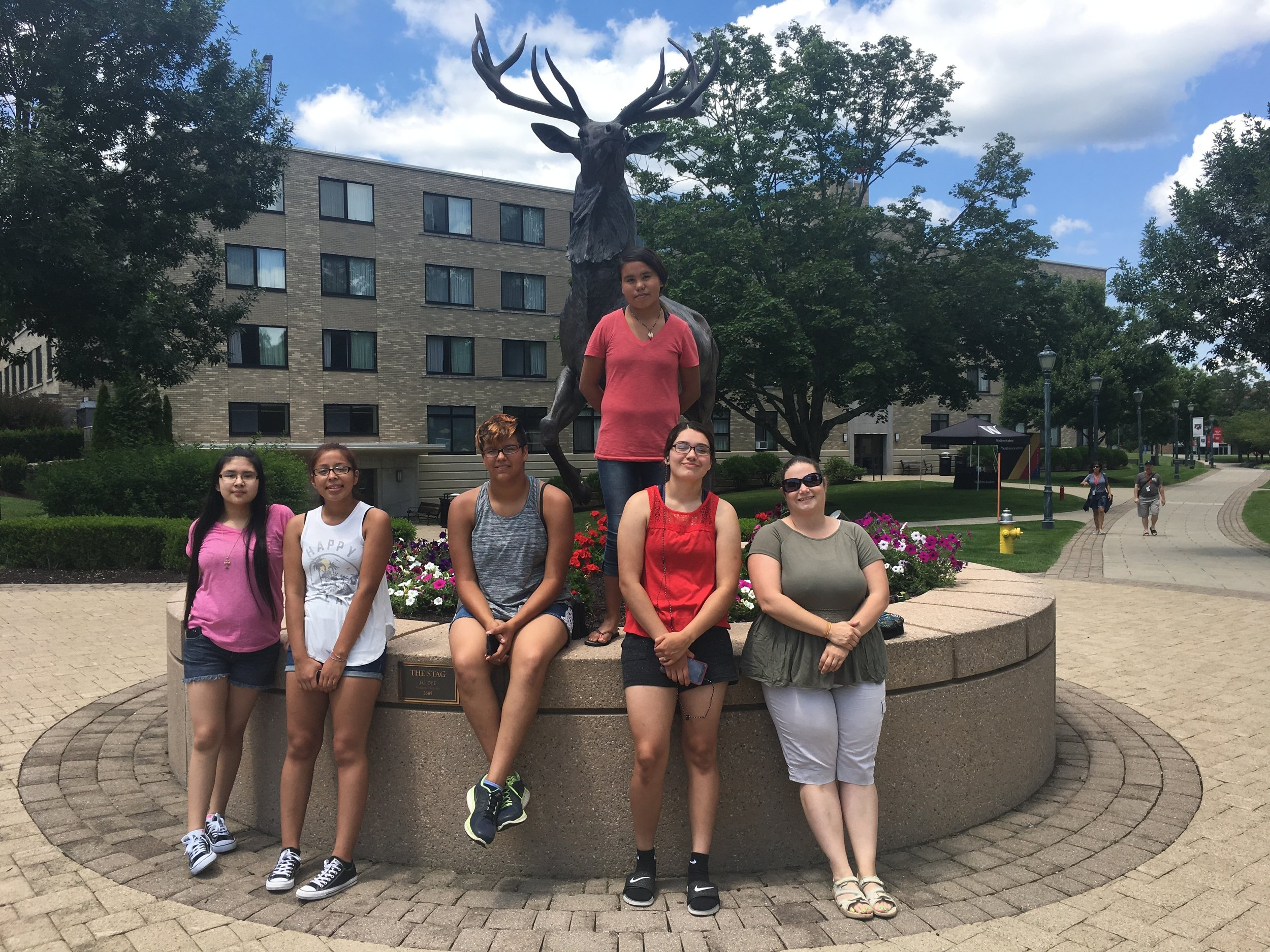 A visit to the Fairfield University campus and a stop by the school's mascot, The Stag.