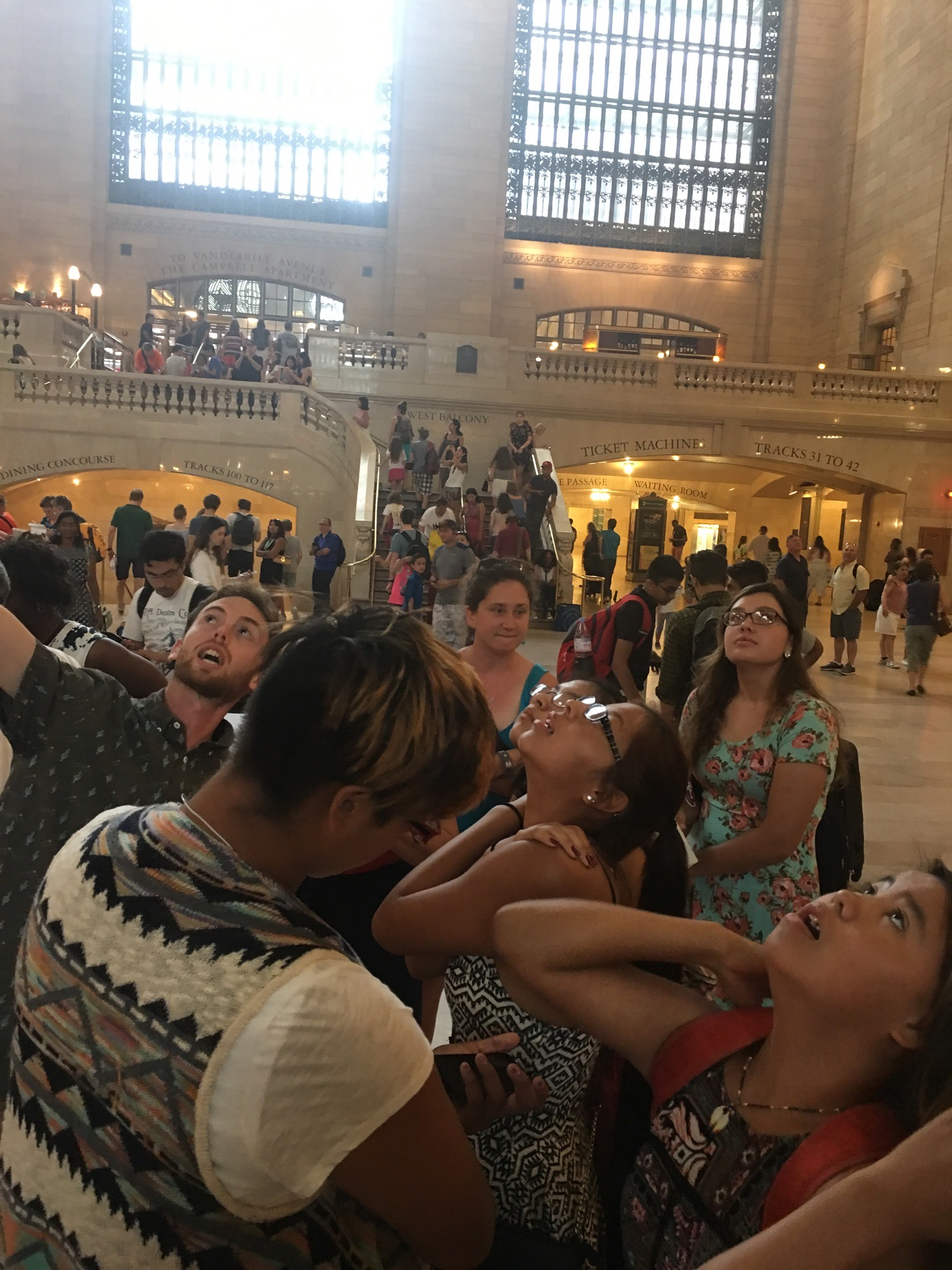 Arrival at Grand Central Terminal.