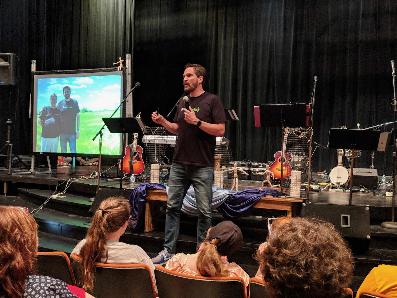 Simply Smiles President and Founder Bryan Nurnberger presents the keynote address at the West Central Regional Youth Event in 2018.
