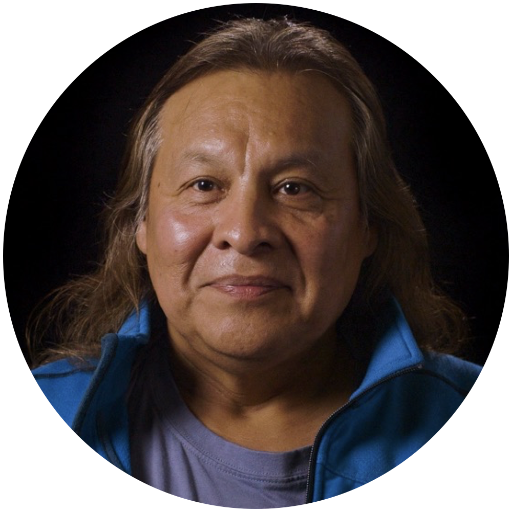 Tiokasin Ghosthorse:  Nobel Prize Nominee, and activist.  Itazipcola/Mnicoujou Lakota.