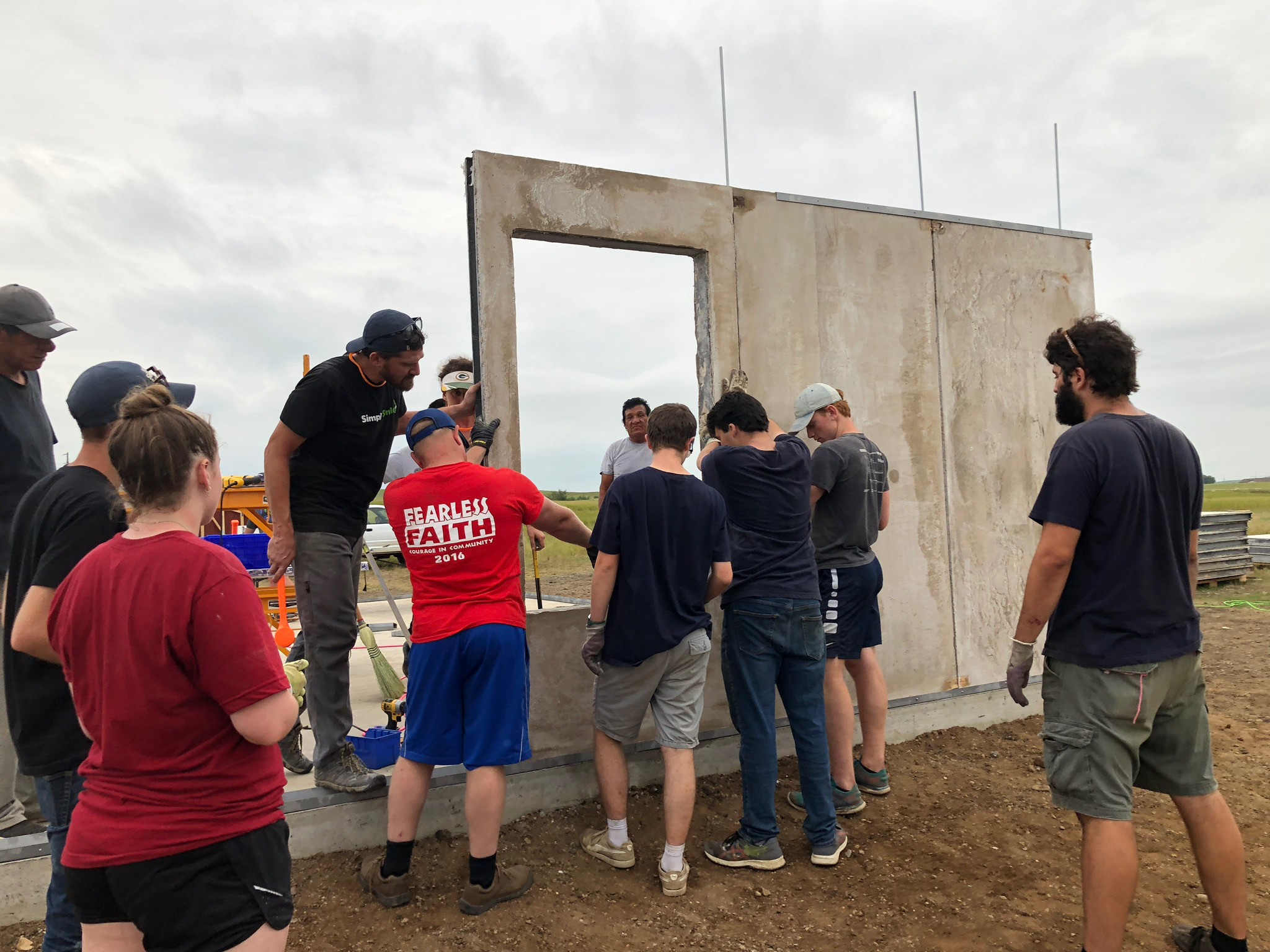 8/2/19: With the help of Simply Smiles volunteers and local community partners, the first exterior walls are installed!