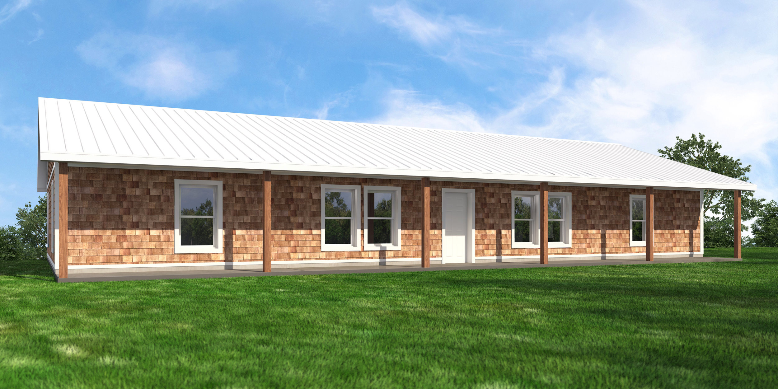 Simply Smiles spent 10-years developing a custom home design that is appropriate for the extreme South Dakota climate. The homes in the children's village are being constructed with the same proven methods, but at 3x the size (2,100 square feet), as seen in the rendering here.