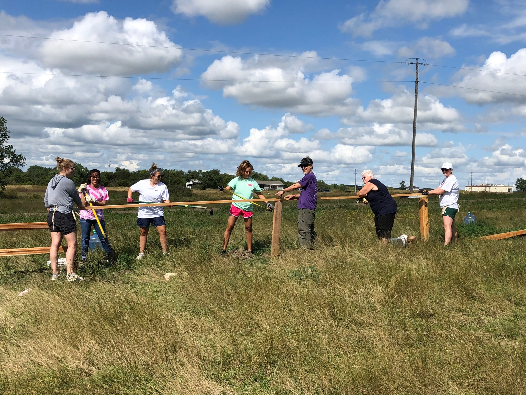 8/26/19: With the help of our volunteer teams, our split rail fence is installed!