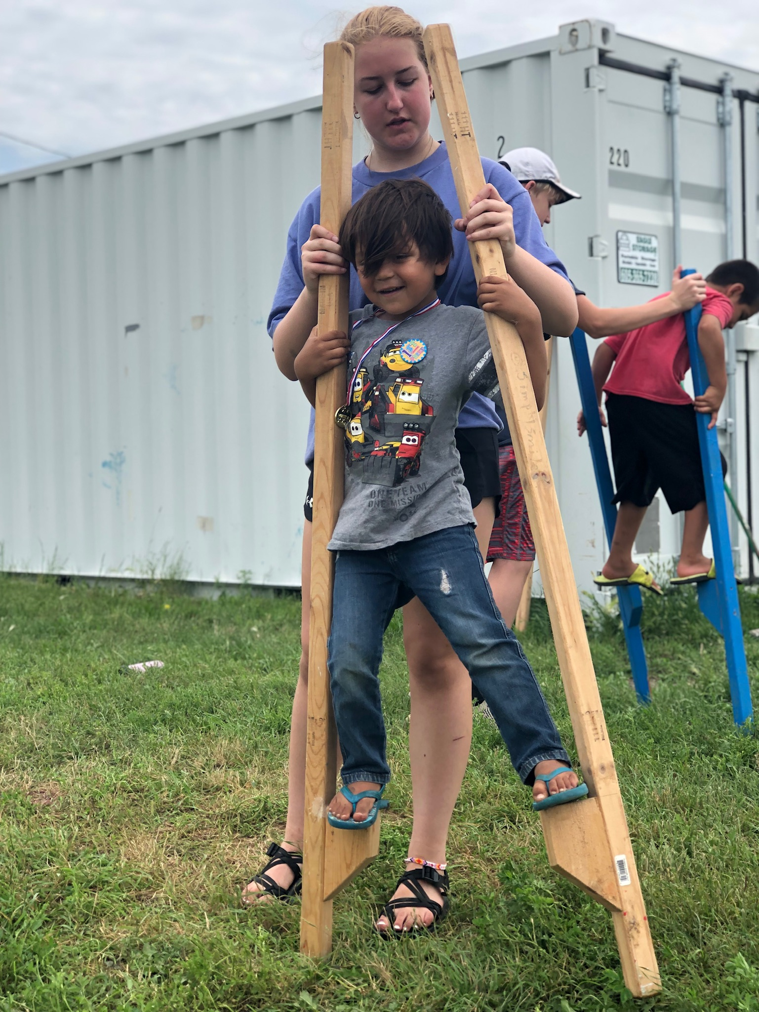 Teambuilding  and having fun at Simply Smiles Summer Camp with our volunteers!