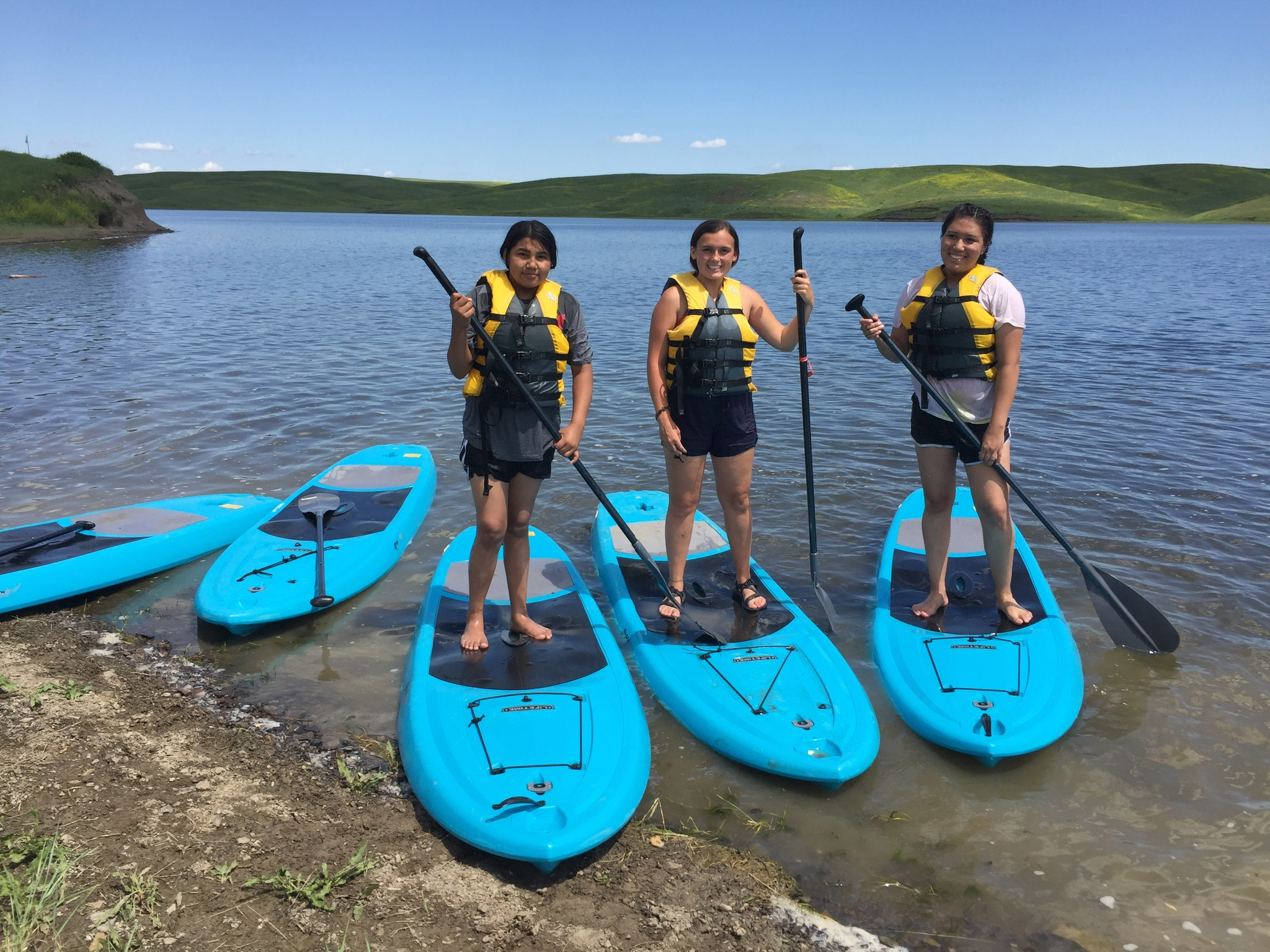 Special field trips, including  paddle-boarding  on the Missouri River!