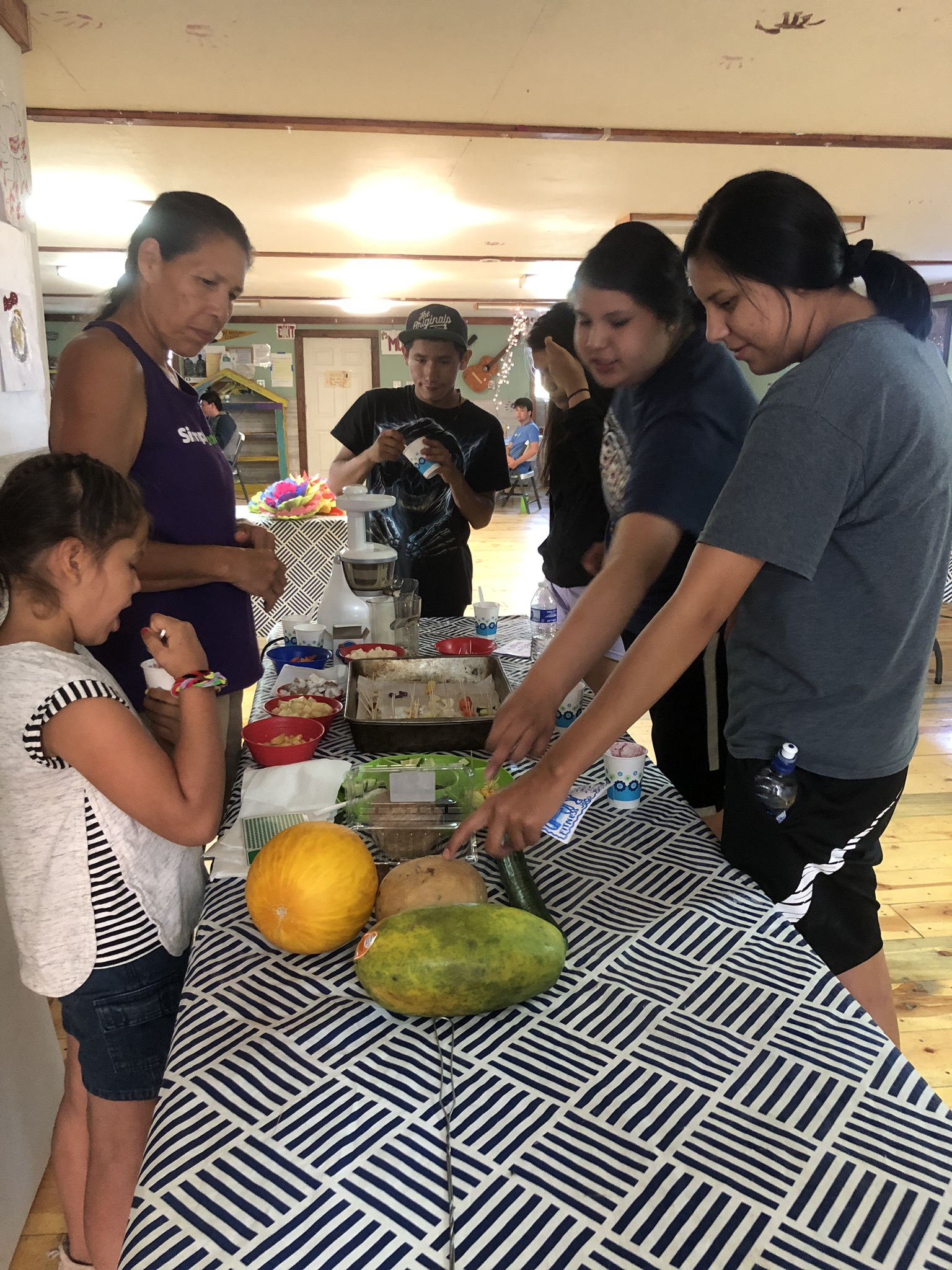 Cooking & Healthy Living.  Campers learn how to cook healthful meals by helping provide lunch and snacks for their fellow summer campers.