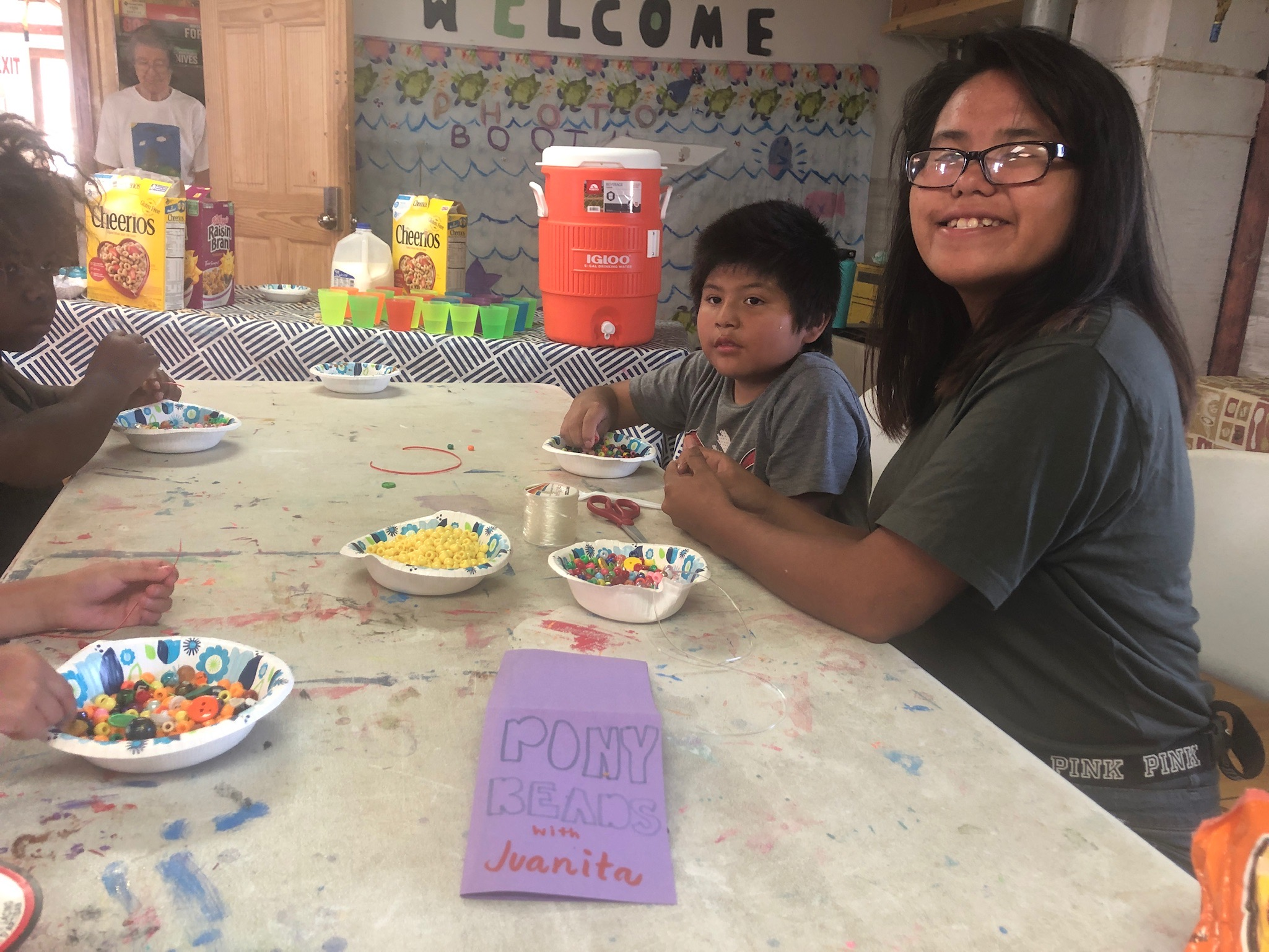 Lakota teens are junior counselors!  At Simply Smiles Summer Camp teens help the staff, mentor younger campers & learn valuable leadership and career skills.