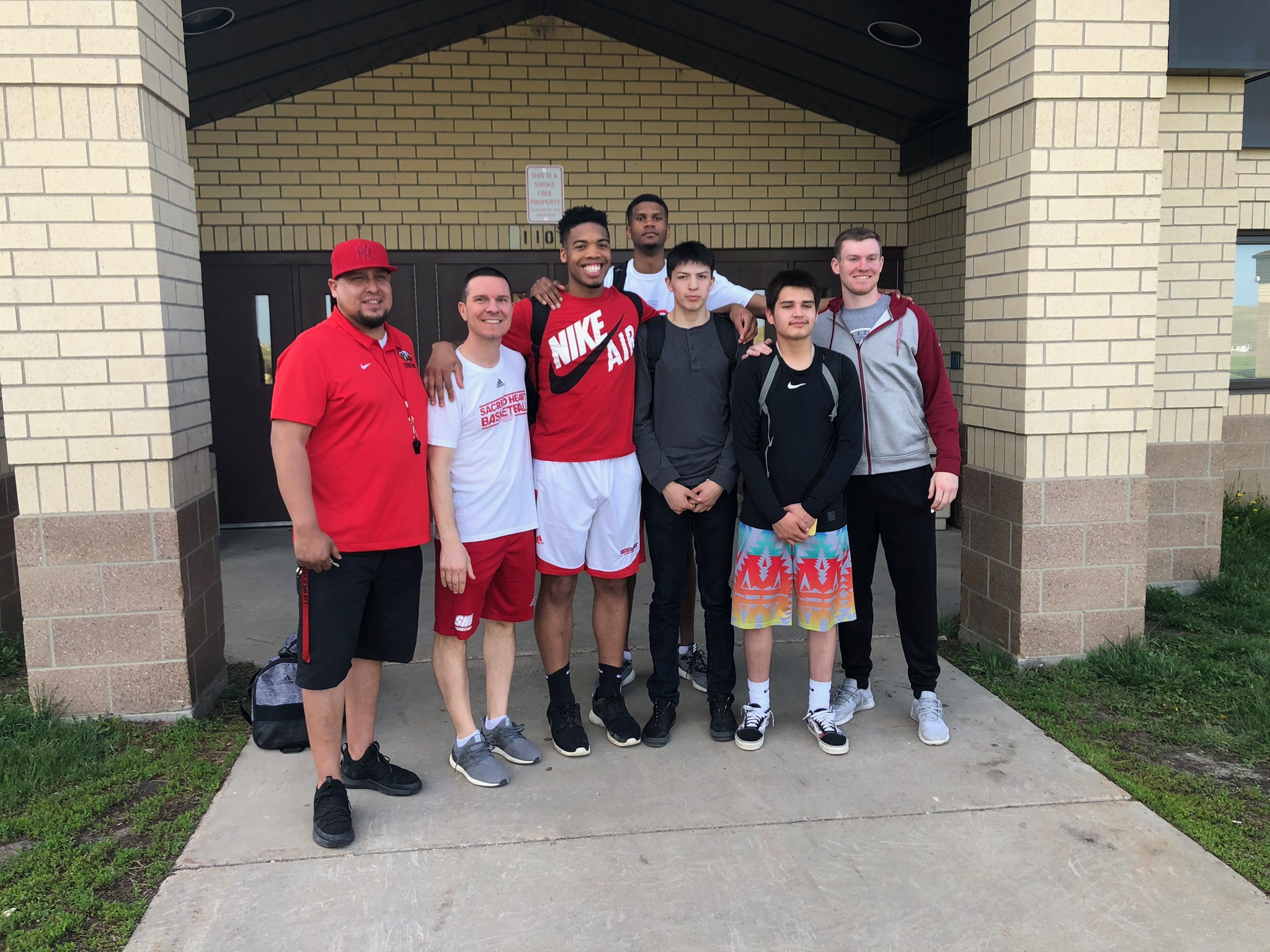 Volunteers lend their time and talents to provide excellent programming for the kids,  including Sacred Heart University's Division I Men's Basketball team who lead a basketball clinic!