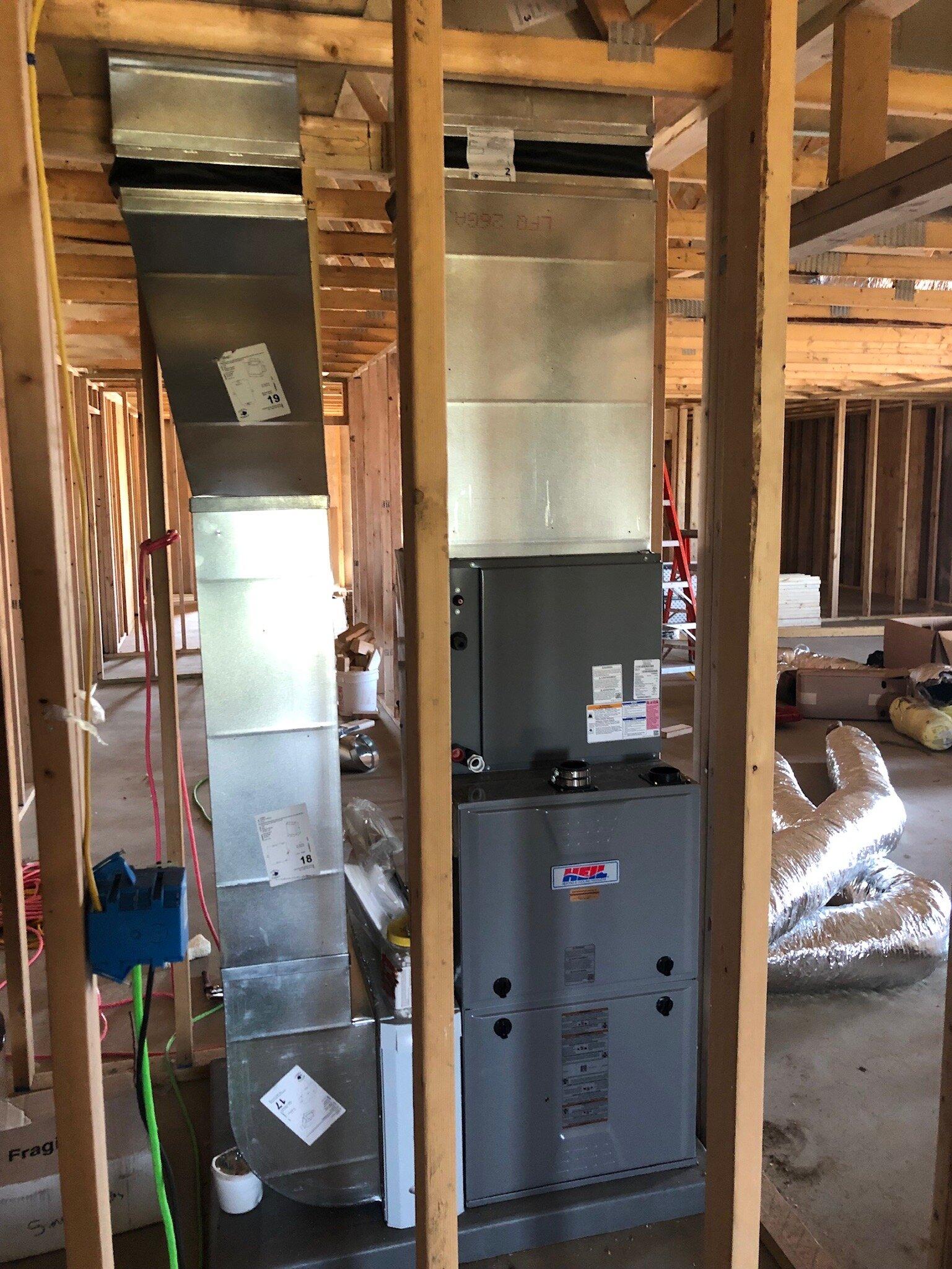 9/5/19: HVAC system installed