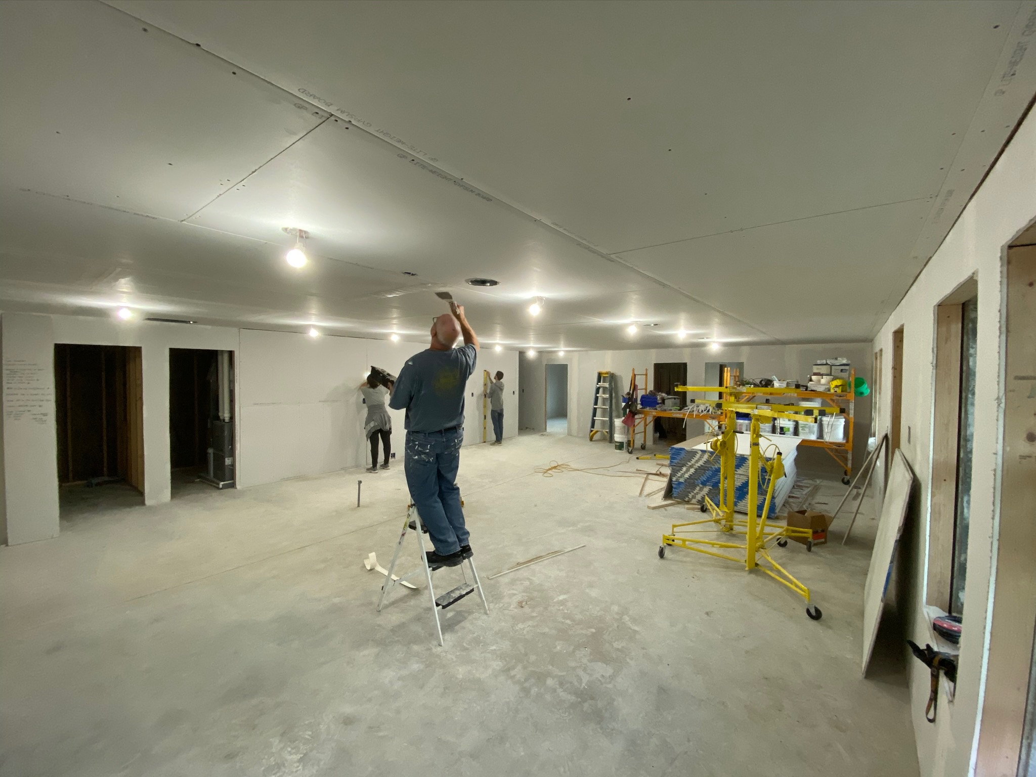 10/7/19: The sheetrock is installed, and the space is starting to look like a home!