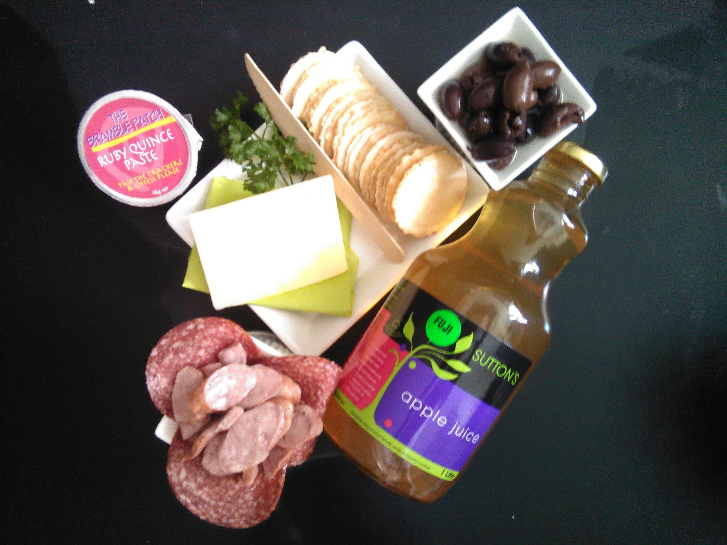 Glorious Granite Belt produce - cheese, olives, juice etc