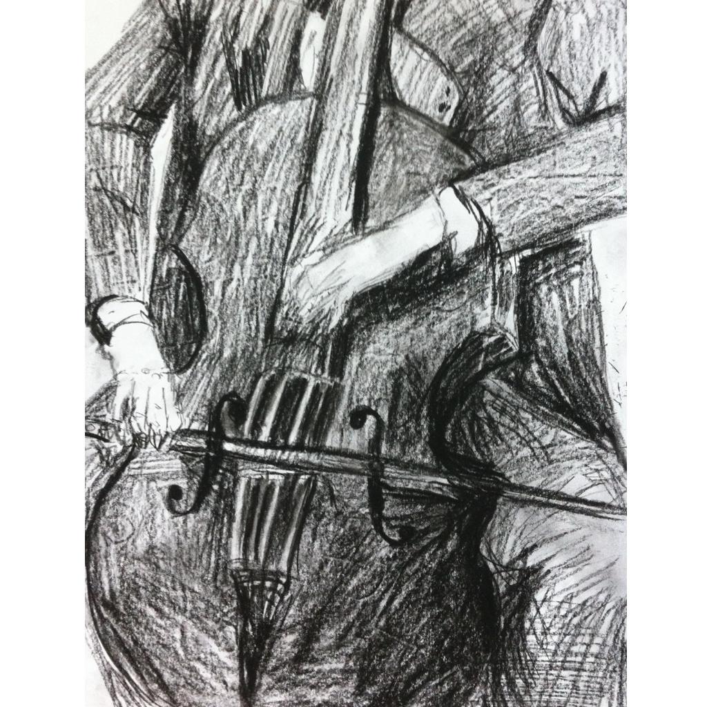 Cellist Sketch by Charlotte Force