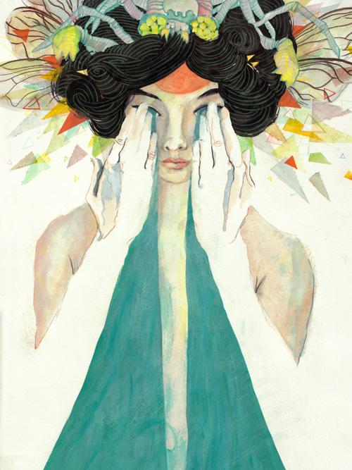 """""""Eyebeams"""" by Caitlin Russell ( http://caitlinrussellart.com/ )"""