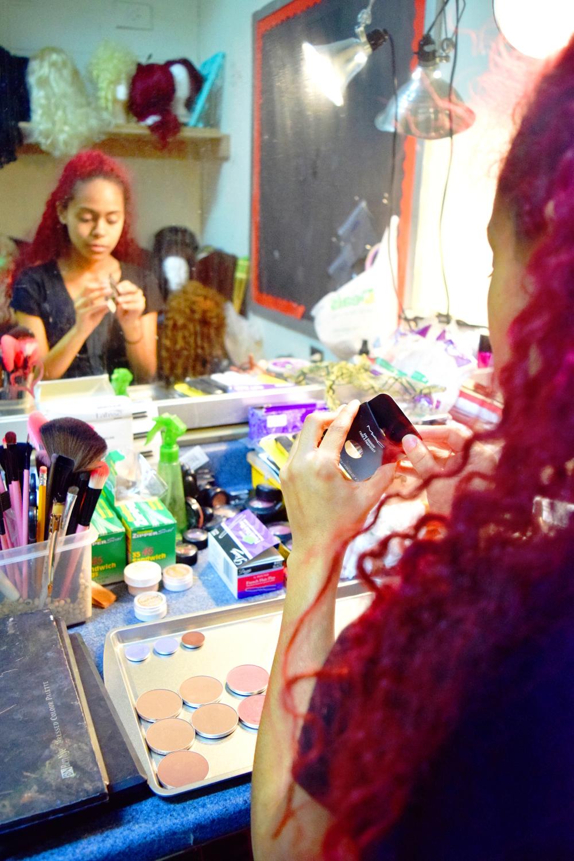 Makeup prep backstage!
