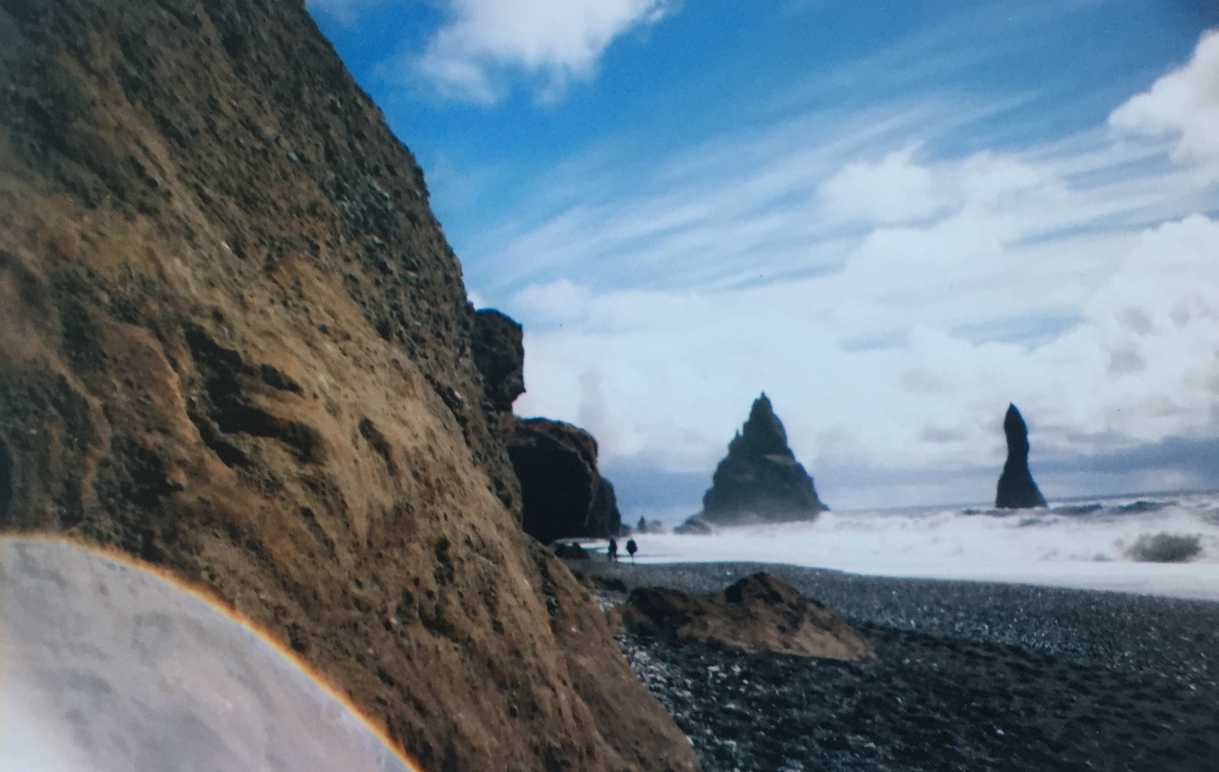 The Black Sand Beach in Vìk, Southern Iceland