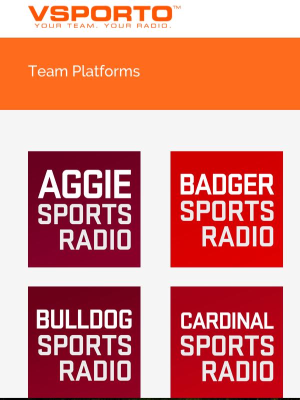 Vsporto - Project:User RegistrationPlatform:Native App (iOS)Industry:Digital Media, Sports