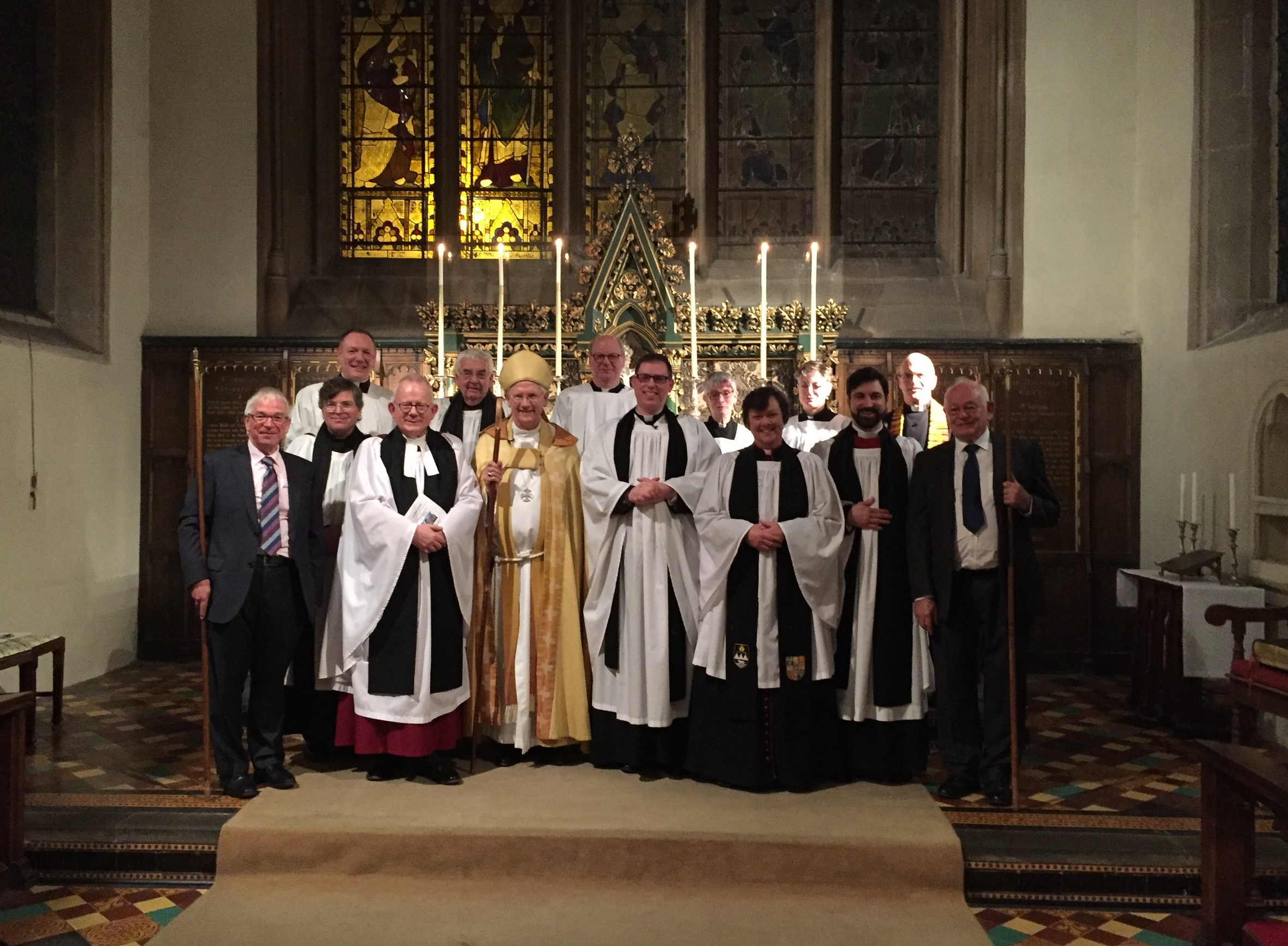 newly instituted Vicar of Wantage, with Bishop of Dorchester and other clergy