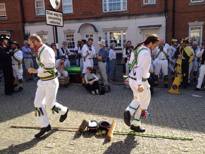 Abingdon Morris perform their broom dance