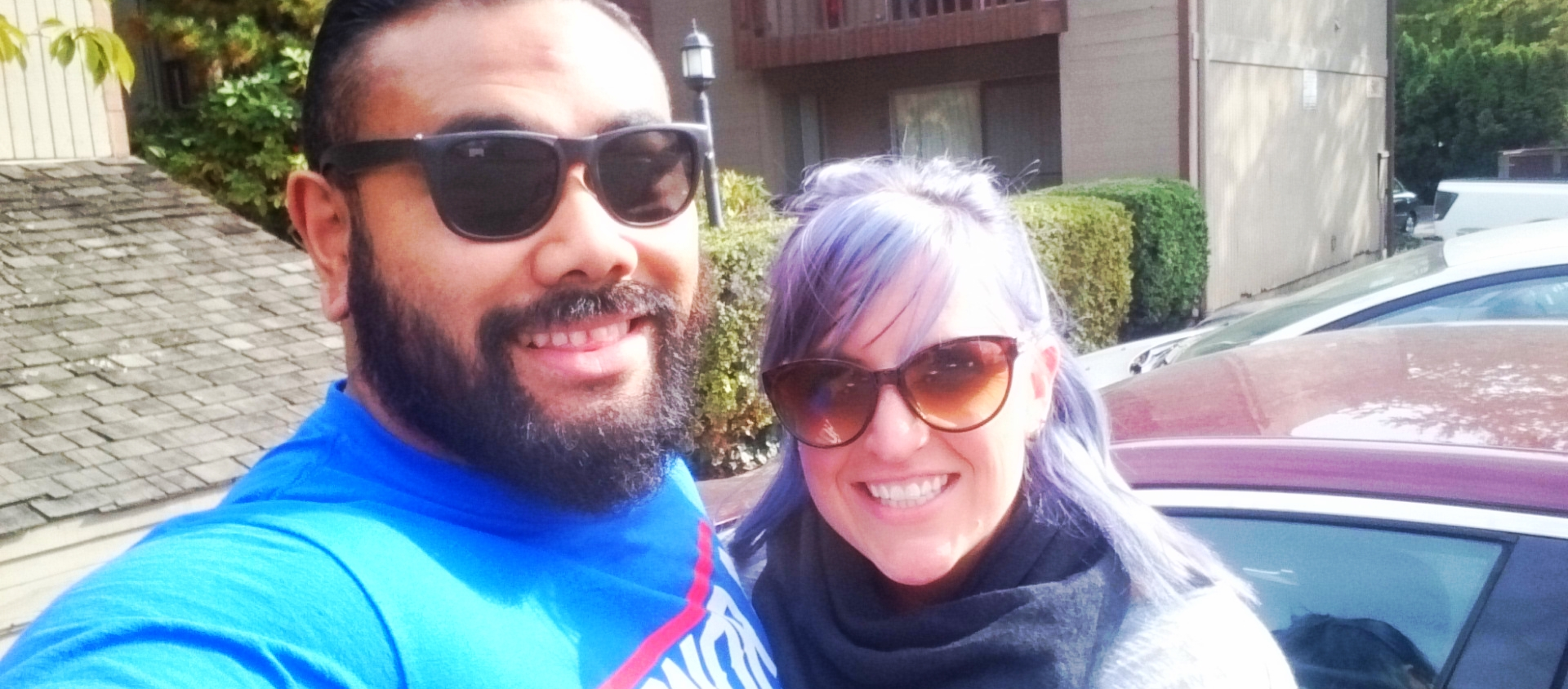 Meghan and I finally in Portland