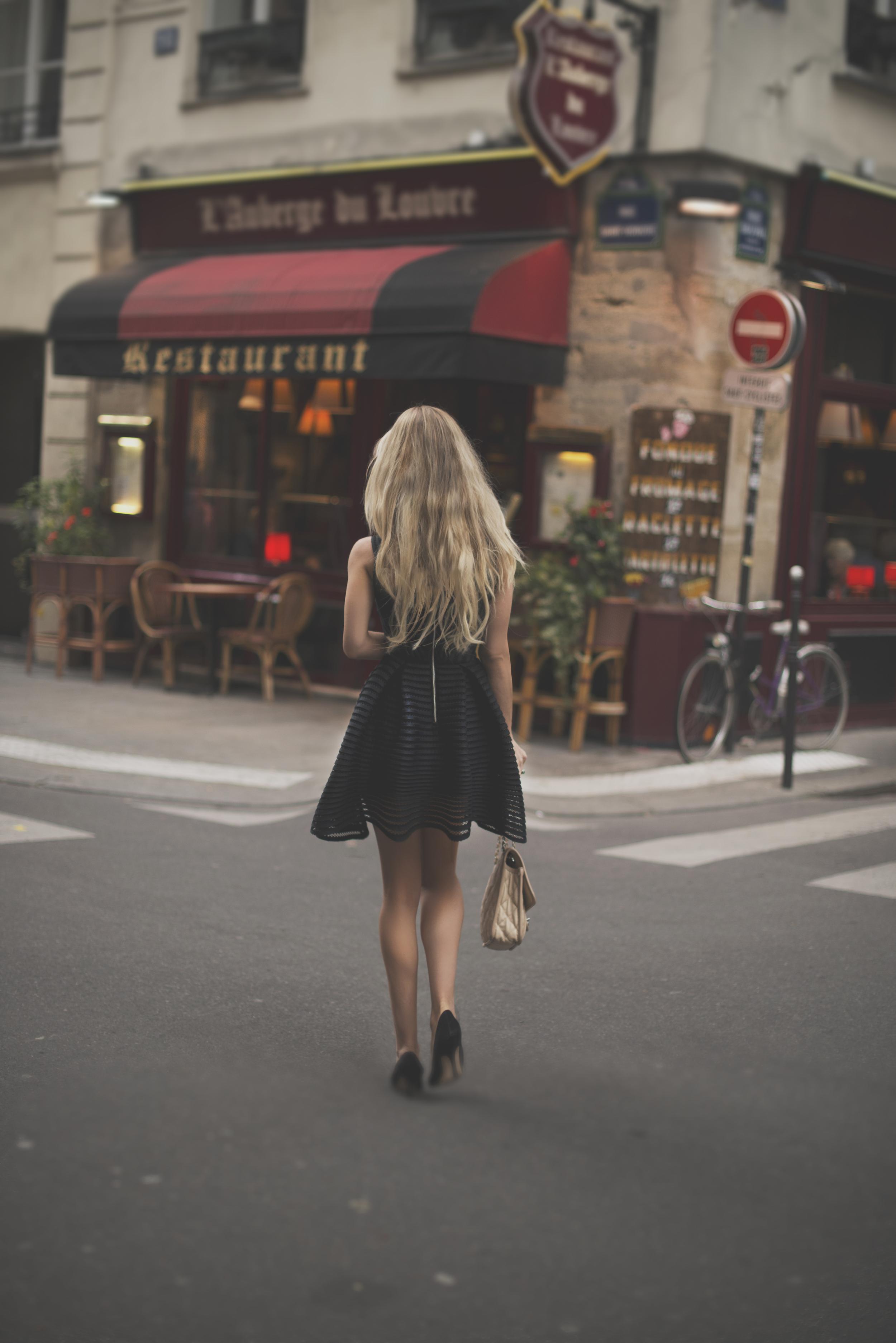 Dress Maje Shoes Manolo Blahnik Handbag CHANEL