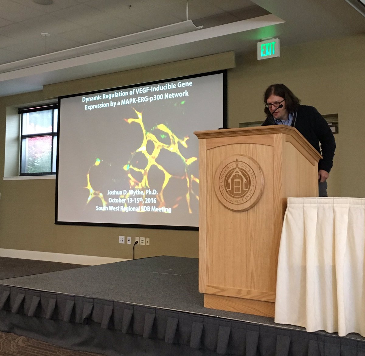 Giving a talk at the South West Regional SDB meeting at Salt Lake City, October, 2016.
