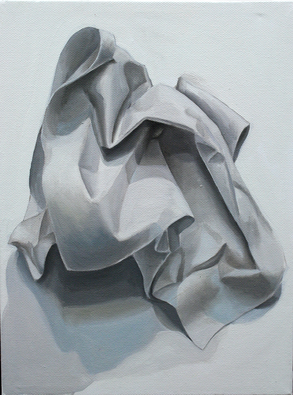 Paper Study  Oil on Canvas
