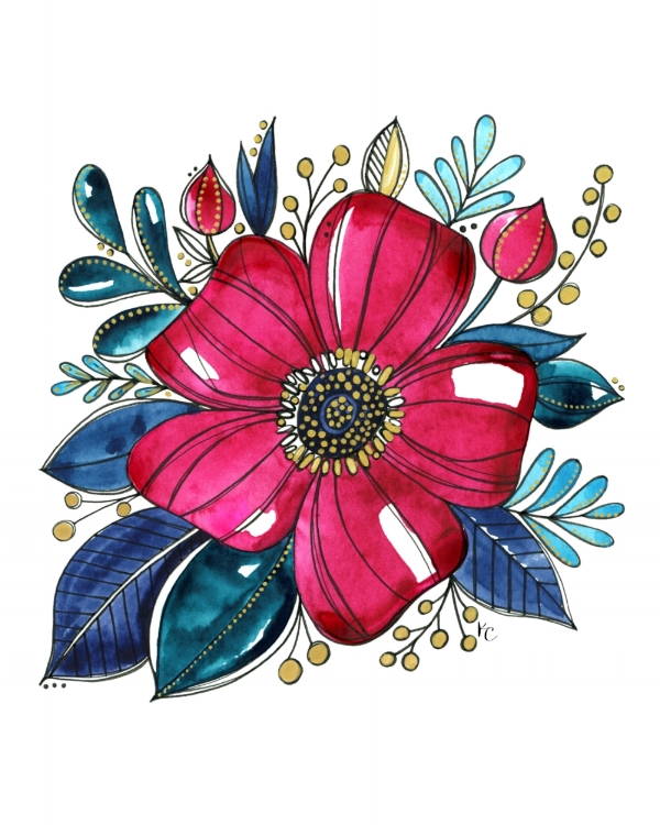 KathrynCole_Watercolorfloralsforsubscribers